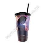 Cтакан пластиковий для напоїв «ЛЮДИ ІКС: ТЕМНИЙ ФЕНІКС» з кришкою та трубочкою, V22 (0,5л), EU