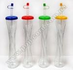 Стакан пластиковый для слаша с крышкой и трубочкой Style1, 0,4л , Китай