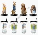 Стакан пластиковый для напитка «Кролик Петрик» с крышкой и трубочкой, V22 (0,5л), EU